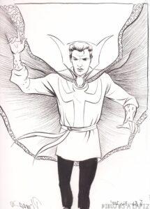 dibujos de doctor strange faciles