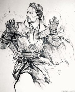 dibujos de doctor strange kawaii