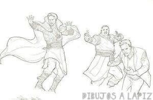 dibujos de dr strange kawaii