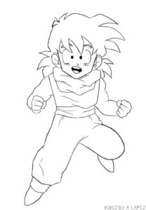 dibujos de dragon ball gohan
