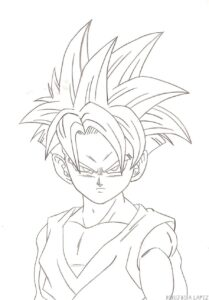 dibujos de dragon ball z gohan