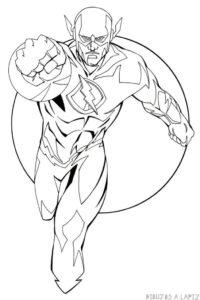 dibujos de flash corriendo