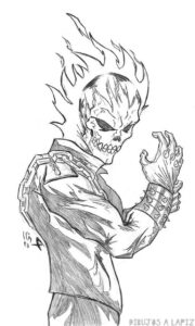 dibujos de ghost rider