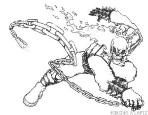 dibujos de ghost rider para descargar