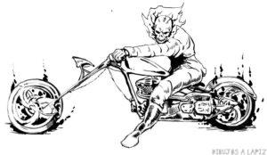 dibujos de ghost rider para dibujar
