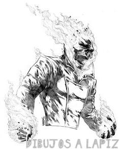 dibujos de ghost rider para dibujar a lapiz