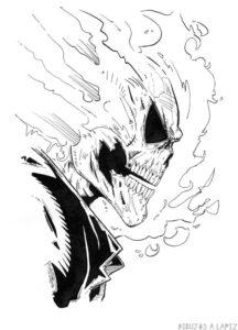 dibujos de ghost rider para imprimir