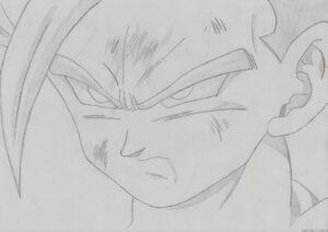 dibujos de gohan a lapiz 1