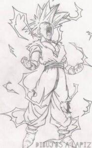 dibujos de gohan y goku