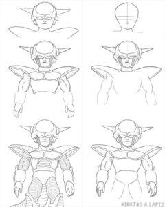 dibujos de goku contra freezer