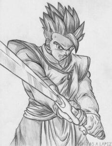 dibujos de goku gohan y goten