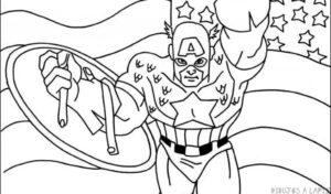 dibujos del capitan america a lapiz