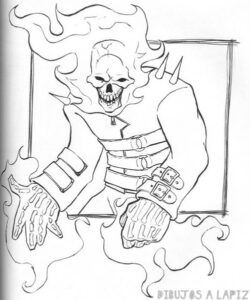dibujos del vengador fantasma a lapiz