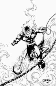 dibujos del vengador fantasma para colorear