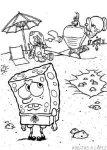 dibujos para colorear bob esponja