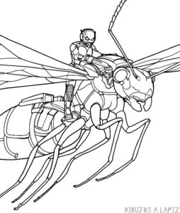dibujos para colorear de ant man