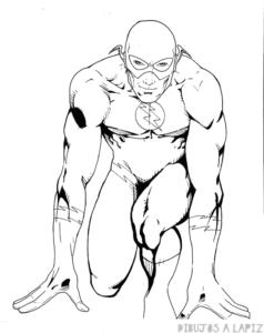 dibujos para colorear flash