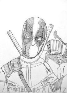 dibujos para pintar de deadpool