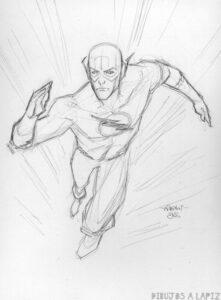 dibujos para pintar de flash