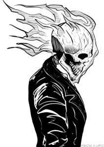 el vengador fantasma para colorear