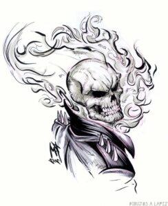 ghost rider dibujo