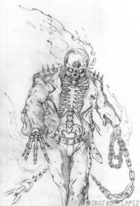 ghost rider para dibujar