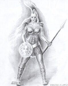 imagenes de atenea diosa griega