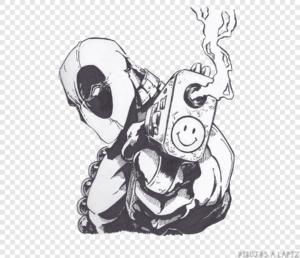 imagenes de deadpool para dibujar