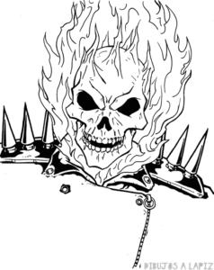 imagenes de ghost rider para dibujar