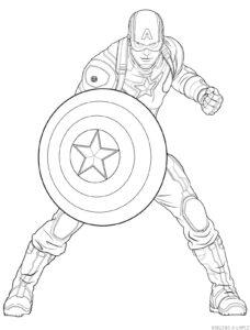 imagenes del capitan america para dibujar