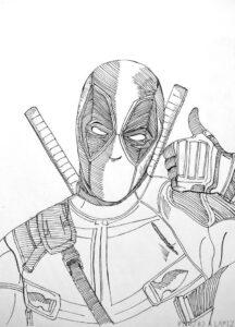 imagenes para dibujar a deadpool