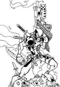 imagenes para dibujar de deadpool