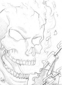 los mejores dibujos de ghost rider