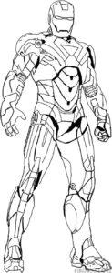 colorear iron man