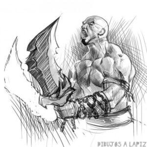 como dibujar a kratos