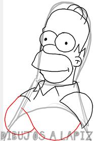 dibujar homer simpson