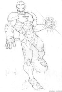 dibujar iron man