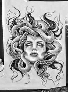 dibujo de la gorgona
