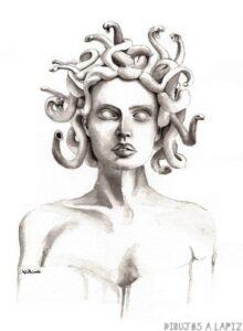 dibujo de la medusa para pintar