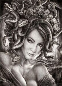 dibujo de medusa facil