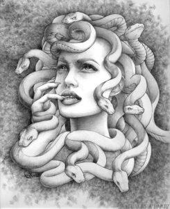 dibujo de medusa mito