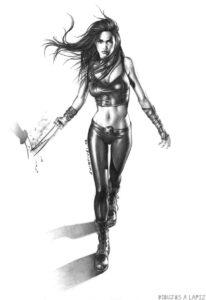 dibujo de mujer maravilla