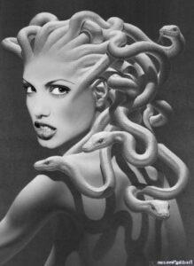 dibujo de perseo y medusa