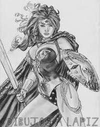 dibujo de wonder woman