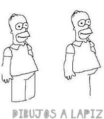 dibujo homero simpson