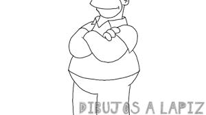 dibujo homero