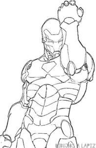 dibujo iron man