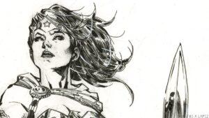 dibujo la mujer maravilla