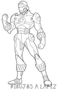 dibujos a lapiz de iron man