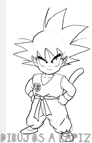 dibujos de goku a color